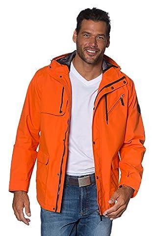 JP 1880 Men's Big & Tall All Weather Hooded Jacket Lightweight & Functional Orange XXXX-Large 702305 65-4XL
