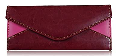 Sn Louis Fabric Maroon & Pink Women Clutches-56