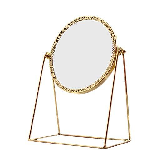 WUJIU Schönheits-Kosmetik-Spiegel, Tragbarer Einfacher Aufwändiger Dekorativer Prinzessin Style...