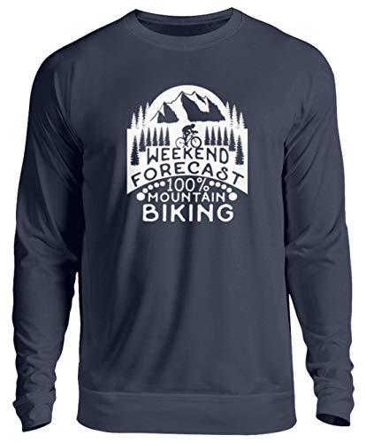 generisch Fahrrad Mountainbike Biking MTB Dirt Bike Fahrradhelm Extremsport Geschenk - Unisex Pullover -S-Oxford Navy