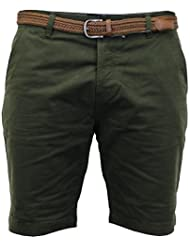 Hommes Avec Ceinture Chino Short Coton By Threadbare