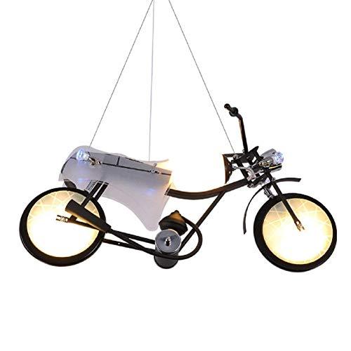 JUAN Bellissime lampade / Industrial vento Lampadari creative personalità decorazioni for bambini Moto Chandelier in camera da letto del ragazzo Negozio di abbigliamento Ristorante Bar 3 Testa Luci P