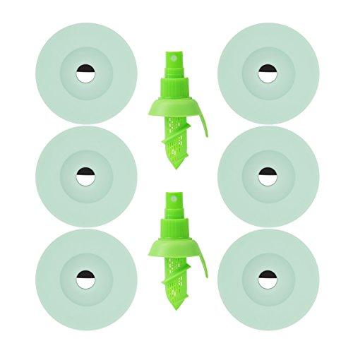 SHENZHENDUDU Spüle Filter Dusche Filter, Badewanne Abfluss Cover Silikon, Bad Drain Filter, Waschbecken Ablauf Filter Etc. 1Set 6Stück ✙ 2Stücke Obst Spritze Hellblau (Drain Cover Spüle)