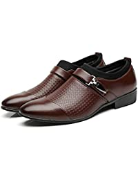 46a94946e3b3b CATEDOT Scarpe Oxford da Uomo Scarpe Eleganti da Uomo Classiche con Collo a  Punta in Pelle