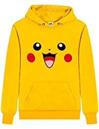 WTUS Sudadera con Capucha para Mujer,Pikachu