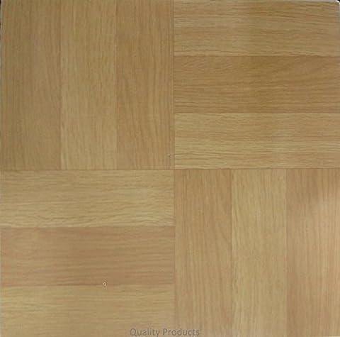 30 x Vinyl Floor Tiles - Self Adhesive - Kitchen / Bathroom Sticky - Brand New - Wood Panel 314590