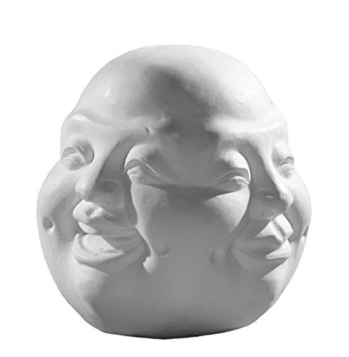 Gipsmanufaktur Kopf Buddha Gesicht vier Stimmungen 14 cm