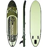 GOPLUS Aufblasbares Paddelboard Surfboard Stand UP SUP Board Paddelbrett Surfbrett mit Pumpe Paddel Tragetasche 335x76x15cm