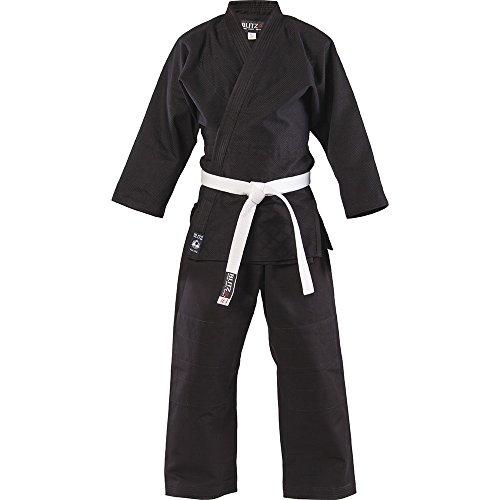 Blitz Sports Baumwoll Student Judo Anzug - schwarz 110cm
