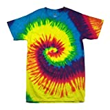 Colortone - Unisex Batik T-Shirt 'Swirl' / Rainbow, 5XL