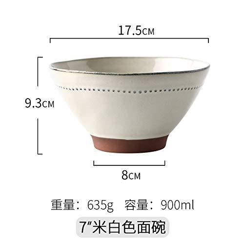 Kreative Keramik Eimer Schüssel Besteck Haushalt Schüssel Rindfleisch Ramen Schüssel Suppe Schüssel Instant Nudel Schüssel Salatschüssel 17,5X9,3 Cm