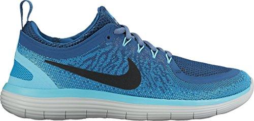Nike Women's Free Rn Distance 2 Running, Scarpe Sportive Indoor Donna Blue Lagoon/Black-industrial Blue