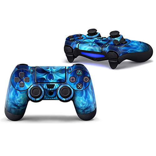 Price comparison product image WELLDRESSED Blue Skull Protective Cover Sticker For PS4 Controller Skin For Playstation 4 Decal Accessories, 1