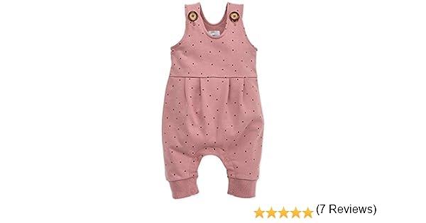 Pinokio Petit Lou 100/% Cotone 56,62,68,74,80 cm Salopette Rosa con Bottoni Bambine e Ragazze Tuta Baby Girl Bimba
