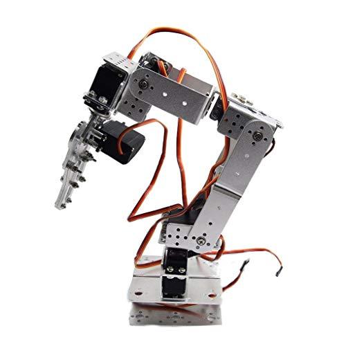 ROT2U 6DOF Kit de Montage de Pince de Bras robotique en Aluminium avec servos pour Arduino-Silver