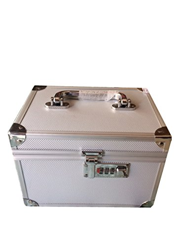 Platinum Makeup and Jewellery Box with lock-Silver
