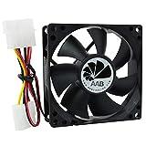AAB Cooling Fan 8 - 80mm Ventilateur pour Boîtier PC Silencieux et Efficace - Série Économique de AAB | 12V | Ventilation PC | 8cm | Ventilo PC | Fan PC