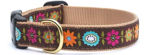 Up Country BEF-C-S Bella Floral Hundehalsband, Schmal 5/8 inch, S
