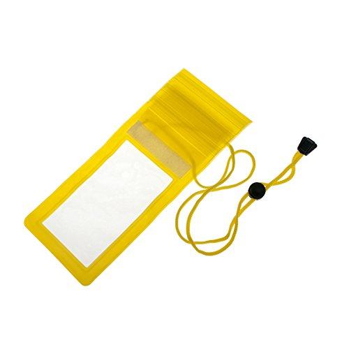Gogo-wasserdichte Hülle/Tasche mit Trageriemen, Triple Zip Druckverschluss Dichtung, verstellbarer Trageriemen Klappe, passt iPhone 6, unisex, gelb (Triple-zip-tasche)