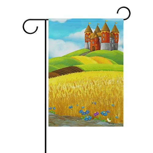 XiangHeFu Garten Flagge ländlichen Burg Reisfeld 28 x 40 Zoll (28