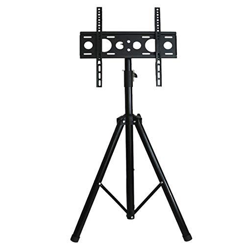 HJJH Universal-TV-Ständer Tischplatte, TV-Ständer mit Halterung für die meisten 37- bis 65-Zoll-Flachbildschirme, neigbar und höhenverstellbar in 5 Stufen mit gehärtetem Glas -