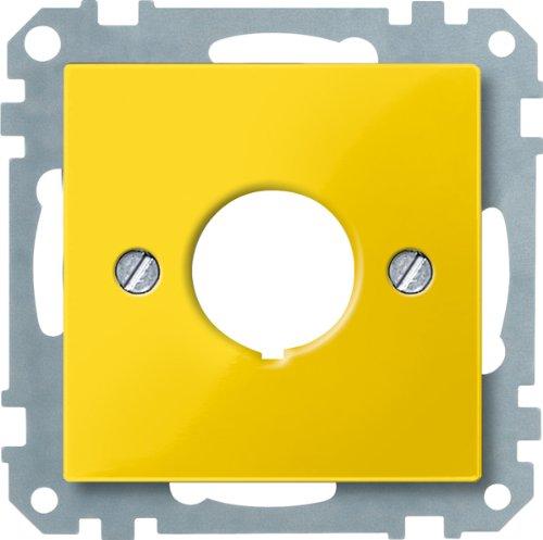 Merten 393803 Zentralplatte für Not-Ausschalter, gelb, System M (Ge-licht-schalter)