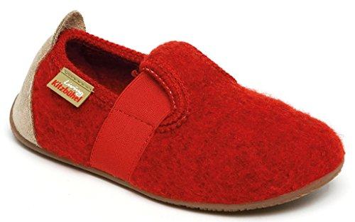 Living Kitzbühel T-Modell Unifarben, Chaussons mixte enfant Rosso (Rot (350 rot))