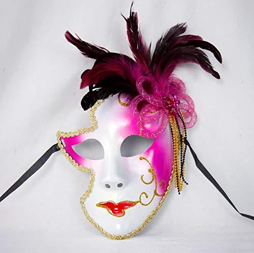 Ball Masquerade Kostüm Kleid - Roman griechischen venezianischen Masken Masquerade Maske Halloween Kostüm Ball Party Kleid Dekoration Supplies Maske mit Persönlichkeit rosarot