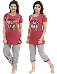 Night Suit  Buy Pajamas For Women online at best prices in India ... 122b72b3db