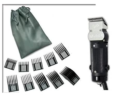 Oster Model 10 Classic Professional Barber Salon Pro Hair Grooming Clipper with 10 piece Comb Guide Set. by (Oster Pro Cord)