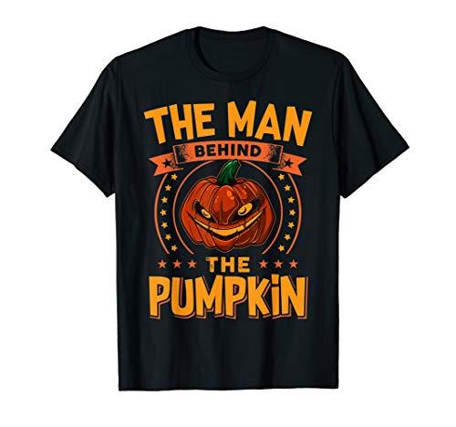 Halloween Schwangerschaft Mann Kürbis Lustige Party T-Shirt (Gruselig Schwangerschaft Halloween-kostüme)