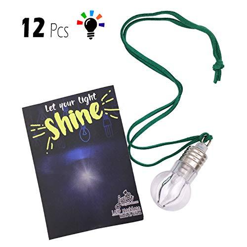 justBe 12 Pack LED Farbwechsel Glühbirne Halskette Party Supplies Geschenk für Kinder | Individuelles Paket