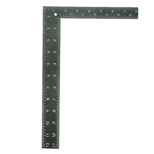 D DOLITY Regla De Acolchado con Forma De L Metal Regla DE 90 Grados para Confección De Patrones De Vestimenta