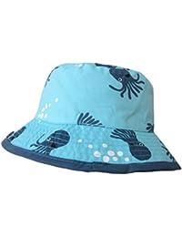 Sumolux Bonnet Chapeau de Soleil Chapeau de Plage Anti UV en Coton Motif de Cartoon Animal Bleu Mignon Pour Enfant Bebe Garcon Bébé Garçon 0-4 Ans en Printemps Eté
