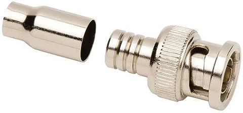 Allen Tel GBNC-117B-75 75-Ohm BNC Male Coaxial Crimp Connector for RG-59/RG-62, 1-Pack