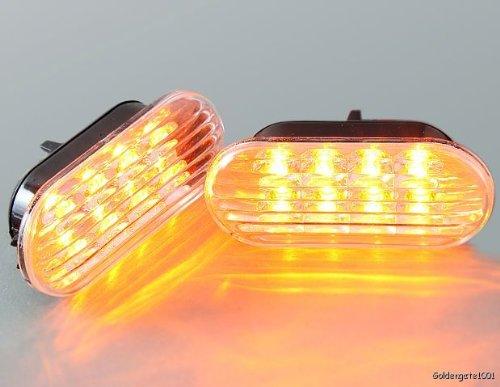 Trasparente ambra LED indicatore laterale luci coppia per 99a 04Golf Jetta Bora 98a 04Passat B5B5.5