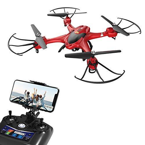 Holy Stone HS200R Drohne mit Kamera HD, RC Quadrocopter, Helikopter Ferngesteuert mit FPV 720P Kamera, Live-Video, APP Steuerung, Funktionen für Anfänger, RC Drohne Ourdoor für Kinder und Erwachsene