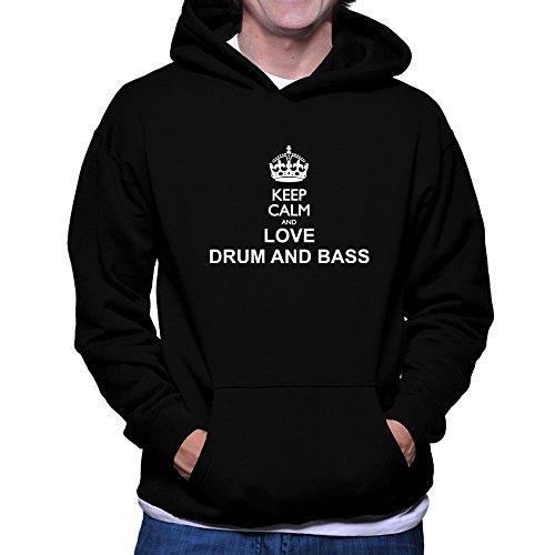 Teeburon Keep calm and love Drum And Bass Hoodie