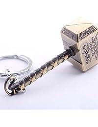 N10BD Marvel Avengers Thor's Hammer Large Pewter Keyring