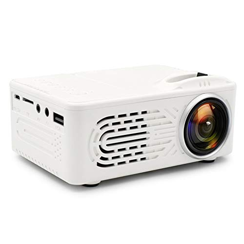 Genmaisima Tragbarer Mini-Filmprojektor in voller HD-Qualität, 7000 Lumen 3D 1080P LED Multimedia-Heimkino AV USB, Helligkeitsprojektor, LED-Licht, Mini-Projektor, Home Entertainment