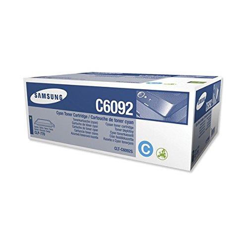 Preisvergleich Produktbild Samsung CLT-C6092S/ELS Original Toner (Hohe Reichweite, Kompatibel mit: CLP-770ND/CLP-775ND) cyan