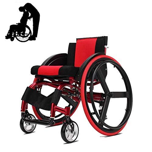 XXY.XXY Sportrollstuhl, Hinterrad Schnellmontage Selbstfahrender Rollstuhl, Faltbarer Transportrollstuhl ohne Armlehnen, Geeignet für Senioren, Erwachsene