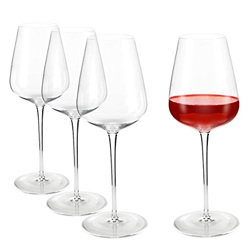 Incutex set de 4 grands verres à vin soufflés bouche verres vin cristal géants XXL 700ml big wine glasses