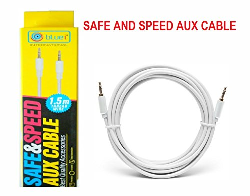 BLUEI 1.5 meter White 3.5mm Audio AUX Cable For Car Other Audio Device (WHITE)