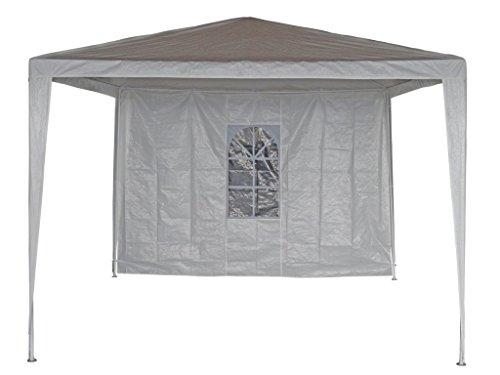 2x laterales paredes laterales para cenador (–Carpa para jardín Cenador plegable de color blanco