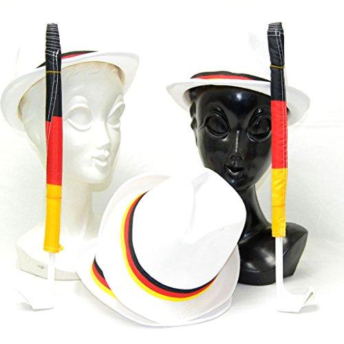 Riethmüller Freizeit oder Partyhüte Deutschland Sparset mit 4 Stück und 2 Autoflaggen, Fanparty, Hochzeit