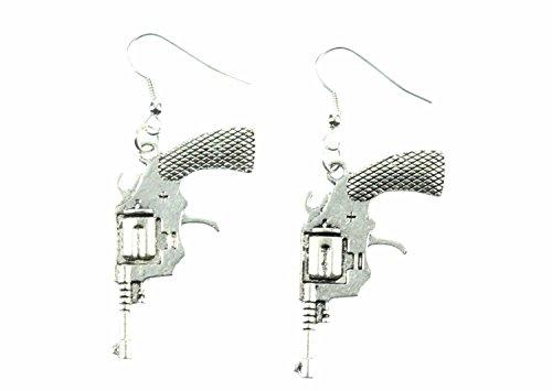 Pistole Ohrringe Revolver Revolverohrringe Miniblings Colt Cowboy Waffe XL