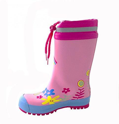 MAXIMO Les bottes en caoutchouc «arc-en-ciel» chaussures bébé chaussures enfant Rose