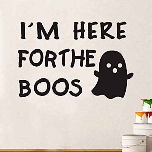 Hier Forthe Boos Wandaufkleber Halloween Fenster Home Decoration Aufkleber Dekor Scary Ghost Vinyl Adhesive Art Decals Wallpaper Xutongrui