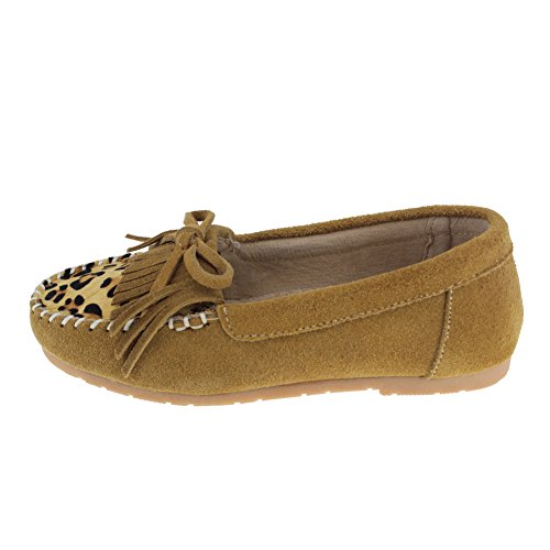 maxu Kid Fille Antidérapant sur robe Leopard Mary Jane Plat Jaune